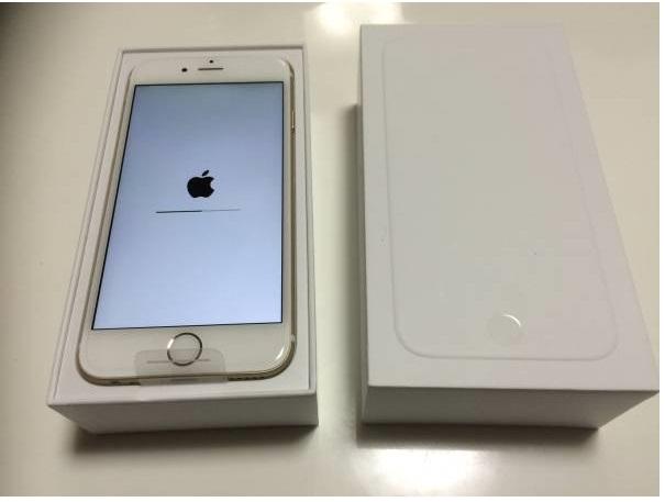 出 iphone 6 16 金色 一括支払済〇。AU 新品