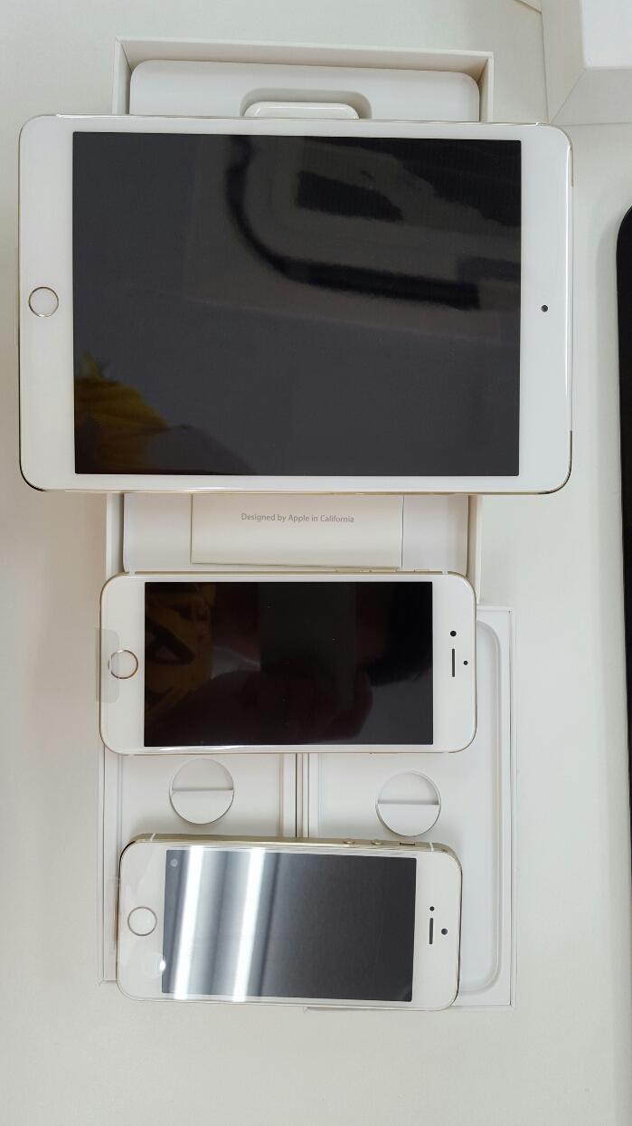 新入手 苹果5S,6,ipadmini 全新土豪金