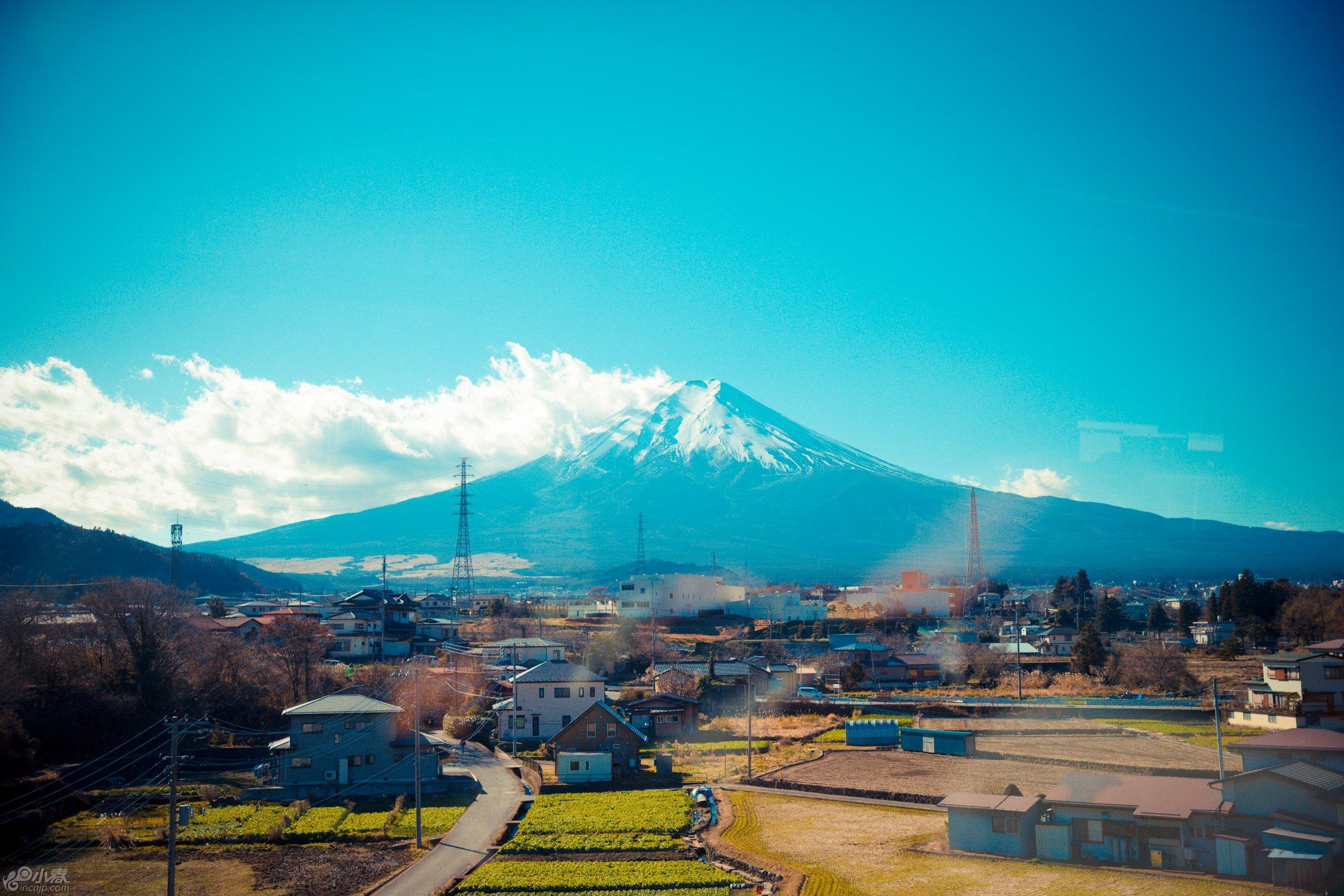 高速上看见的富士山