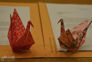 奥巴马专为长崎折纸鹤 继广岛后赠予长崎市