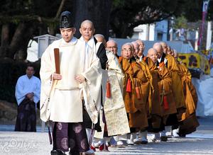 僧侣神社还愿700余载 感谢保佑平安归国