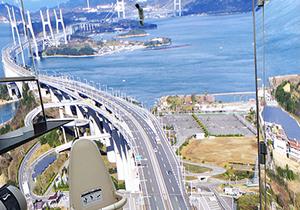天空厕所亮相濑户大桥停车区 体验身临空中