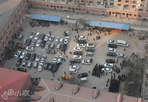 郑州最大城中村爆破 大楼轰然倒塌