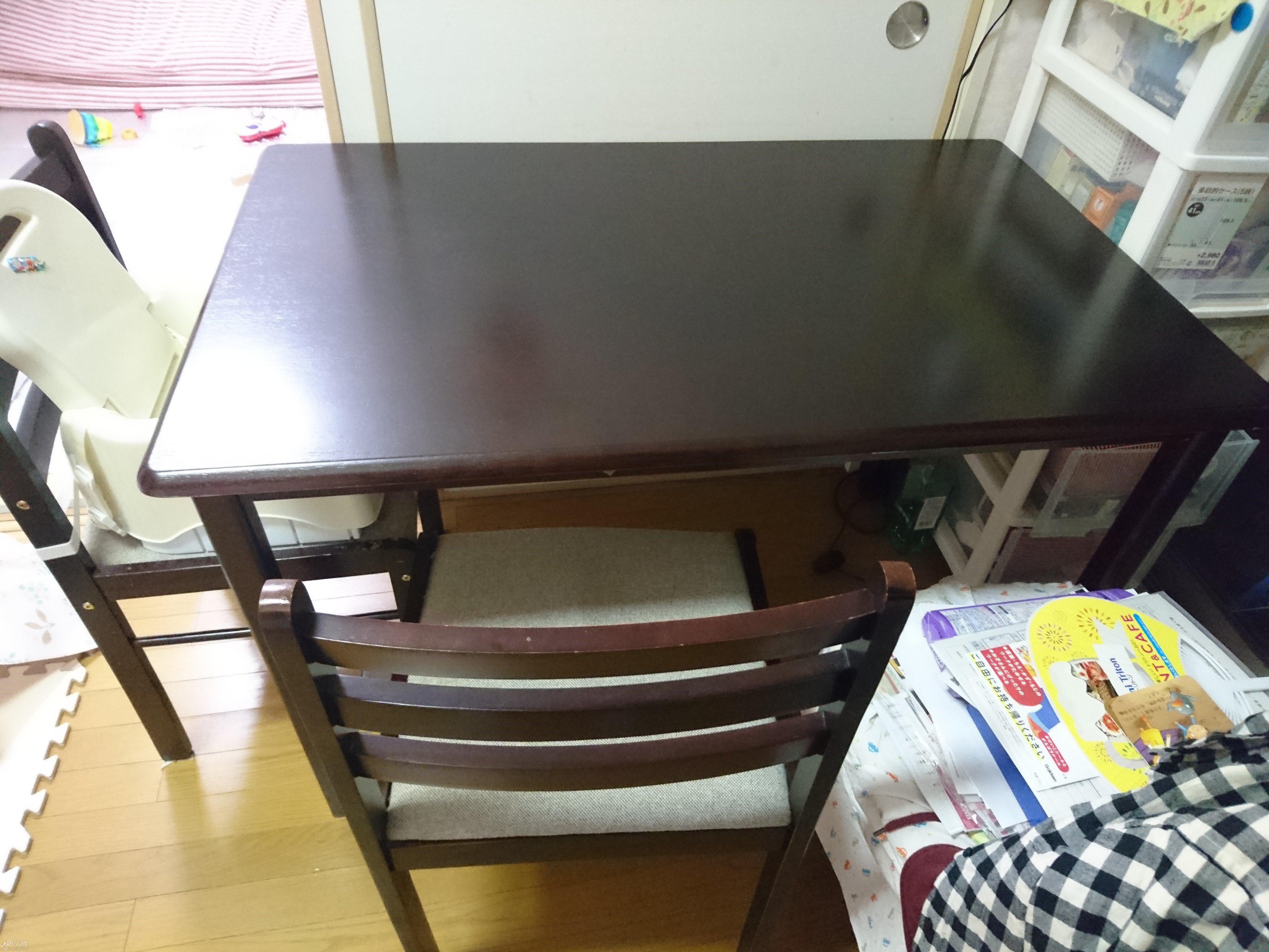 餐桌椅五点 椅子有点脏 无料