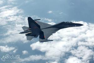 中国空军歼11战机开火精彩瞬间