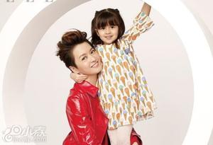 梁咏琪携女儿拍写真