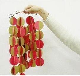 废纸变废为宝DIY 纸风铃挂饰