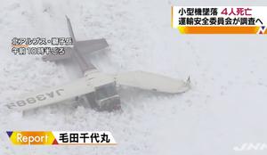 一架小型飞机在日本中部山区坠毁