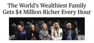 全球最富有的25个家族,日进1亿美元是啥感觉?