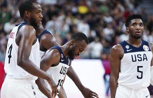 美国男篮79-89不敌法国 无缘世界杯四强