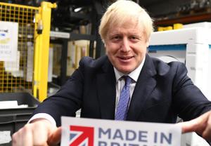 英国首相约翰逊到访一电器制造商