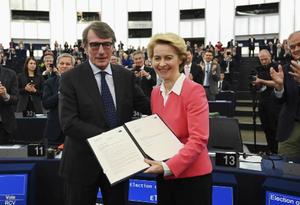 欧洲议会投票通过新一届欧盟委员会阵容