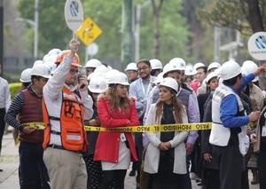墨西哥举行地震演习