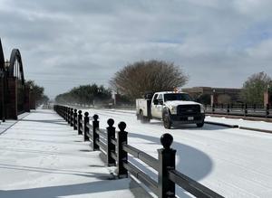 美国得克萨斯州休斯敦遭暴风雪袭击