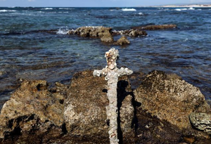 以色列打捞到十字军时期古剑